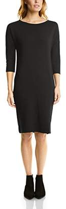 Street One Women's u-Boat Heavy Jersey Dress (Black 10001), (Size: 42)
