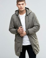 Jack and Jones Originals Padded Parka with Detachable Hood