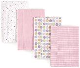 Luvable Friends Pink Flannel Burp Cloths - Set of Four