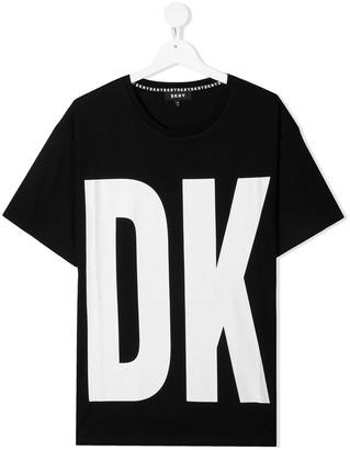 DKNY TEEN logo crew-neck T-shirt