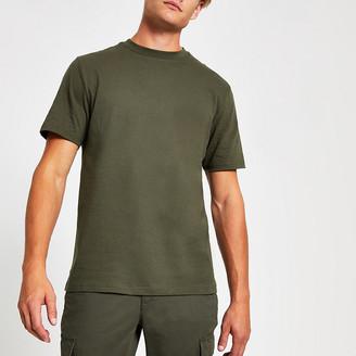 River Island Khaki crew neck short sleeve T-shirt