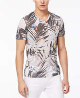 GUESS Men's V-Neck Palm T-Shirt