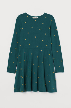 H&M Cotton Dress with Glitter
