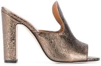 Paris Texas Block Heel Mules