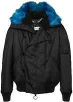 Off-White Off White faux fur trimmed parka coat