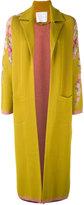 Giada Benincasa - embroidered flowers cardi-coat - women - Cotton/Polyester/Spandex/Elastane/Viscose - S
