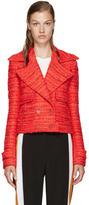 Altuzarra Red Tweed Newport Jacket