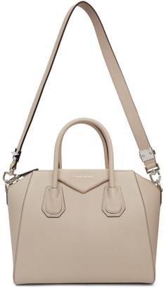 Givenchy Beige Grained Small Antigona Bag