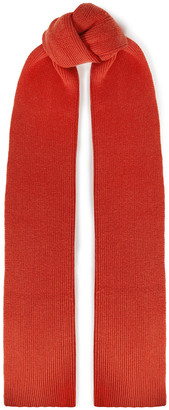 Joseph Ribbed Wool And Cashmere-blend Scarf