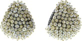 Arunashi Natural Basra Pearl Huggie Earrings