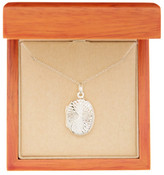 Argentovivo Sterling Silver Oval Swirl Front Locket Necklace