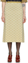 Gucci Off-White and Gold Lurex GG Skirt