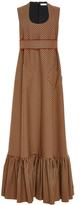 DELPOZO Ruffled Hem Maxi Dress