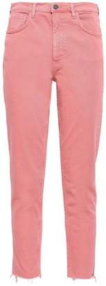 MiH Jeans Mimi Frayed High-rise Tapered Jeans