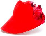 Gucci floral brim hat - women - Rabbit Fur Felt - M