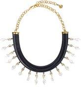Shourouk Women's Tubogas Black Statement Necklace of Length 15.0-19.0cm