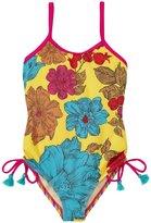Pink Chicken Sadie Swim Suit (Toddler/Kid) - Floral/Rainbow - 2 Years