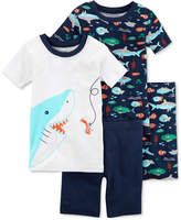 Carter's 4-Pc. Sharks Cotton Pajama Set, Little Boys & Big Boys