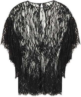 IRO Hampton Ruffled Cotton-blend Lace Top