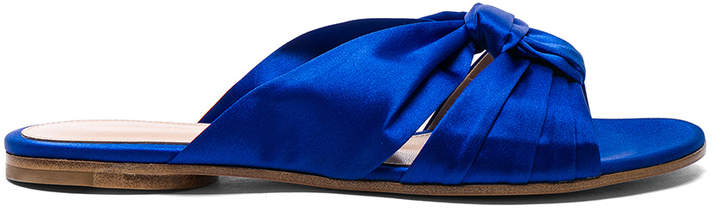 Gianvito Rossi Satin Blair Knot Sandals
