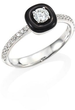 Nikos Koulis Oui Diamond, Enamel & 18K White Gold Ring