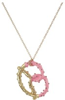 Betsey Johnson Pretzel Pendant Long Necklace