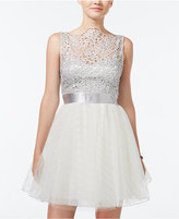 Trixxi Juniors' Lace Tulle Fit & Flare Skirt