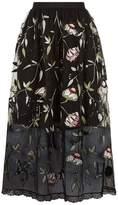 Markus Lupfer Taylor Monkey Embellished Midi Skirt
