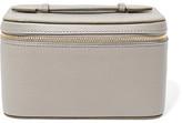 Smythson Panama Mini Textured-leather Jewelry Case - Gray