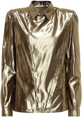 Saint Laurent Metallic shirt