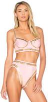 Norma Kamali X REVOLVE Stud Underwire Bikini Top in Pink. - size L (also in M,S,XS)