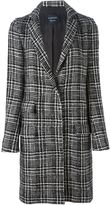 Lanvin Prince of Wales check tweed coat