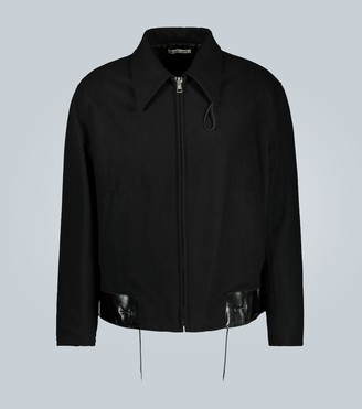 Our Legacy Wool jacket with leather hem