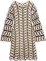 Chloé Crocheted Cotton Dress - Navy