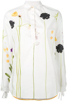 Paul Smith floral embroidered shirt - women - Silk/Cotton/Polyamide/Cupro - 40