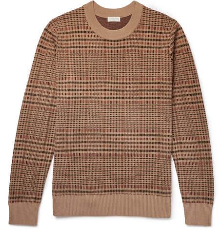 Dries Van Noten Checked Merino Wool-Blend Sweater