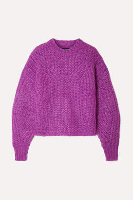 Isabel Marant Inko Mohair-blend Sweater - Magenta