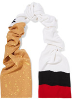 Moschino Printed Wool Scarf