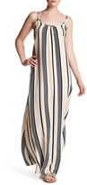 Lucca Couture Stripe Low Back Maxi Dress