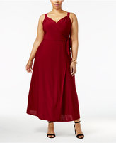 Love Squared Trendy Plus Size Wrap Dress