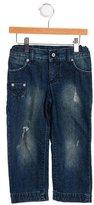 Dolce & Gabbana Boys' Distressed Straight-Leg Jeans