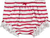 Miss Blumarine Striped cotton bloomers - White and red