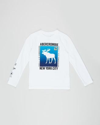 Abercrombie & Fitch LS Graphic Tee - Kids-Teens