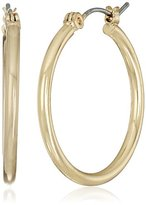 "Nine West Nw Basics Hoops Recolor"" Gold-Tone Small Hoop Earrings"