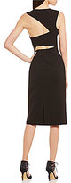 JS Collections Crew Neck Sleeveless Cut-Out Back Solid Crepe Dress