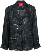 F.R.S For Restless Sleepers - night animals print button up top - women - Silk - S