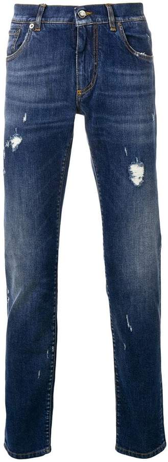 Dolce & Gabbana ripped slim fit jeans