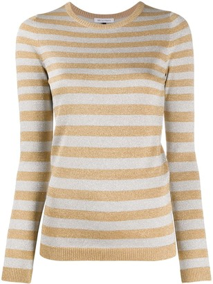 Bella Freud Glittered Stripe Jumper
