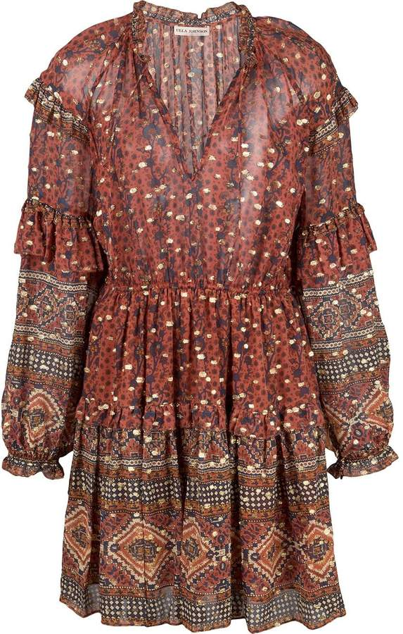 Ulla Johnson bohemian print mini dress