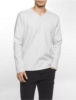 Calvin Klein Solid V-Neck Sweatshirt